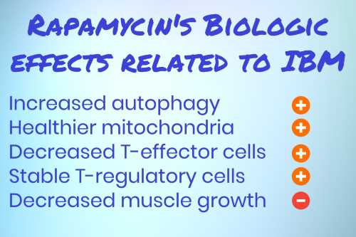 List of rapamycin's biologic effects