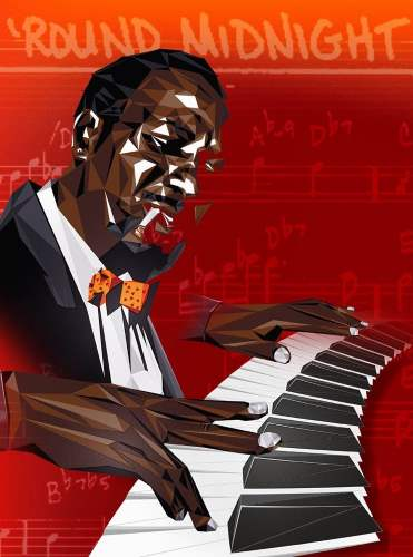 Thelonius Monk, artwork by Patrick Warner