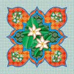 Decorative tile designed by Patrick Warner