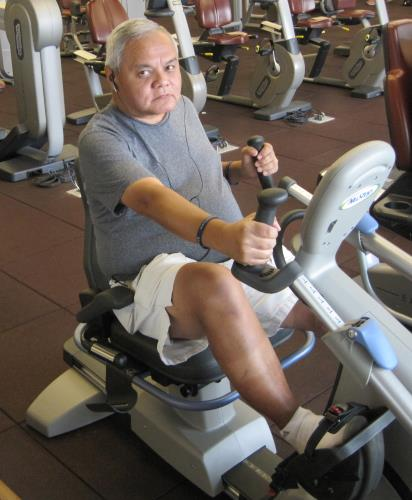 Joe Sanchez on NuStep Recumbent Cross Trainer - Exercise Equipment