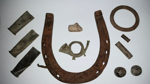 1872 cavalry hat insignia, artifacts